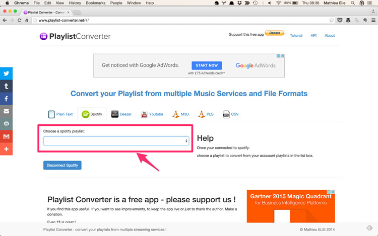 Convert playlists from spotify to youtube tutorial