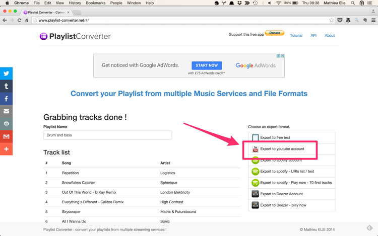 Free And Music Playlist: Convert Playlists From Spotify To Youtube Tutorial